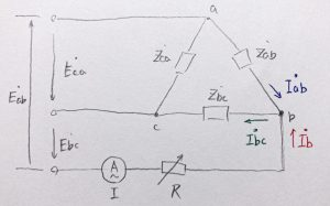 図1 b点における電流