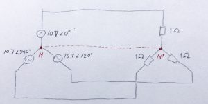 図2 平衡三相負荷の場合