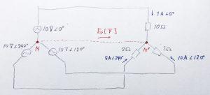図3 不平衡三相負荷の場合