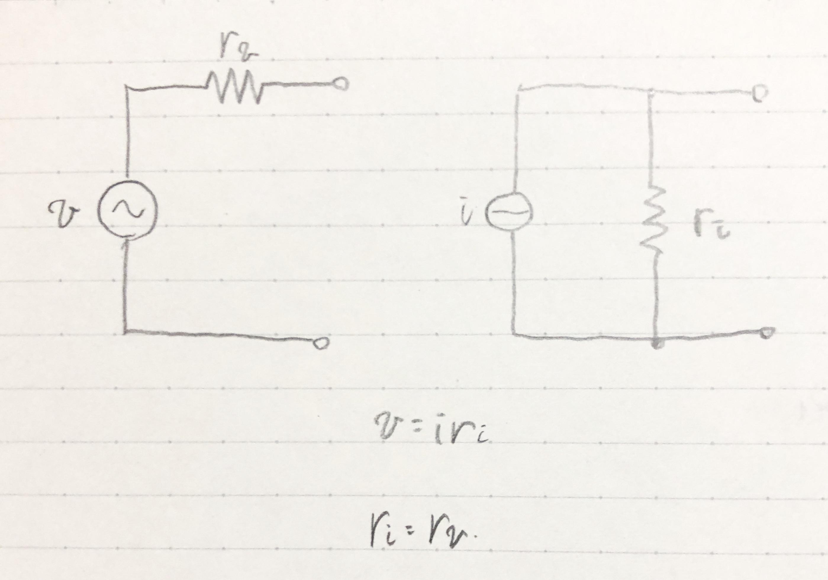 図1 電圧源と電流源